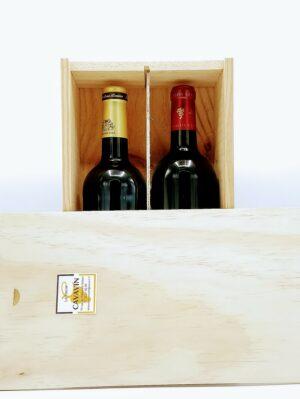caisse bois a garnir 2 bouteilles 75cl 1 scaled