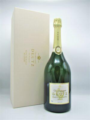 champagne deutz ay brut blanc de blanc 150cl coffret magnum etui scaled