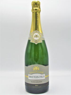 champagne recoltant blanc de blancs brut breton fils 75cl scaled
