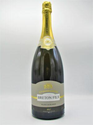 champagne recoltant brut blanc de blancs breton fils magnum 150cl scaled