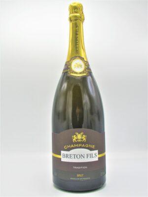champagne recoltant brut tradition breton fils magnum 150cl scaled
