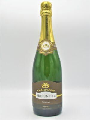 champagne recoltant demi sec breton fils 75cl scaled