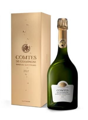champagne taittinger Comtes de champagne Blanc de Blancs coffret 2007 75cl 2