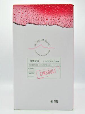 igp oc cinsault rose 10 litres cellier pic bib cubis scaled